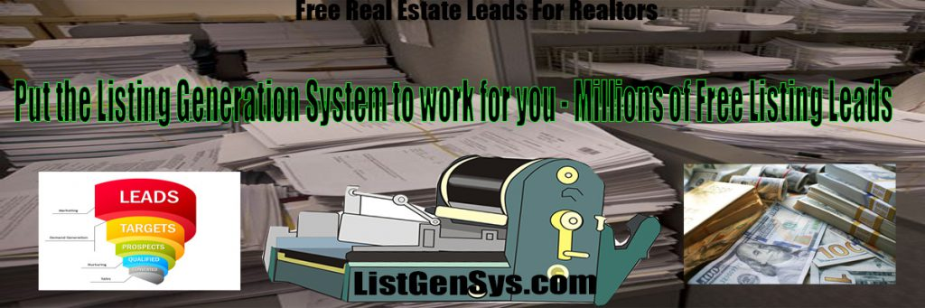 Free real estate leads realtors