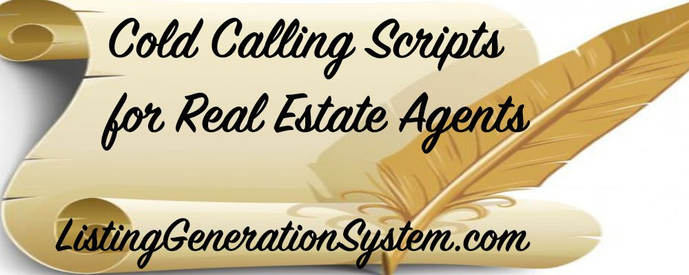 real estate prospecting scripts and dialogues