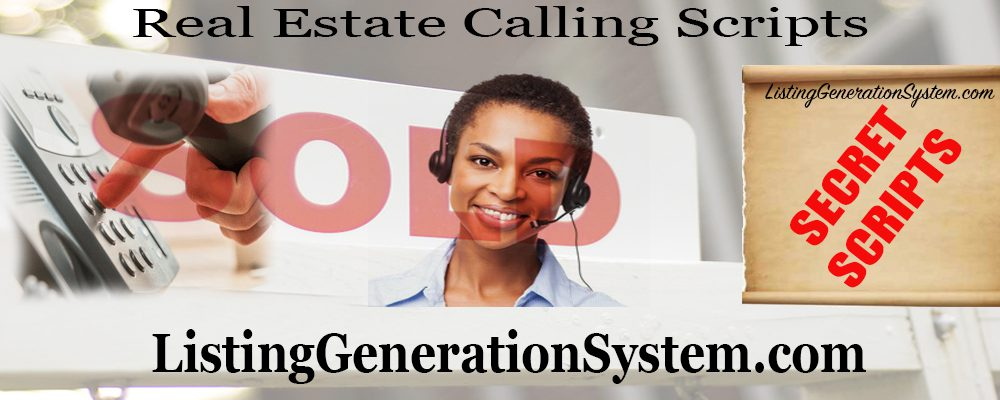 cold calling scripts real estate