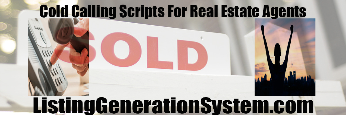 real estate cold calling script