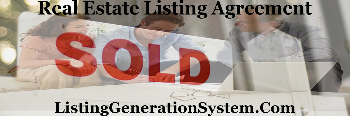 Real Estate Listing Agreement Listing Generation System