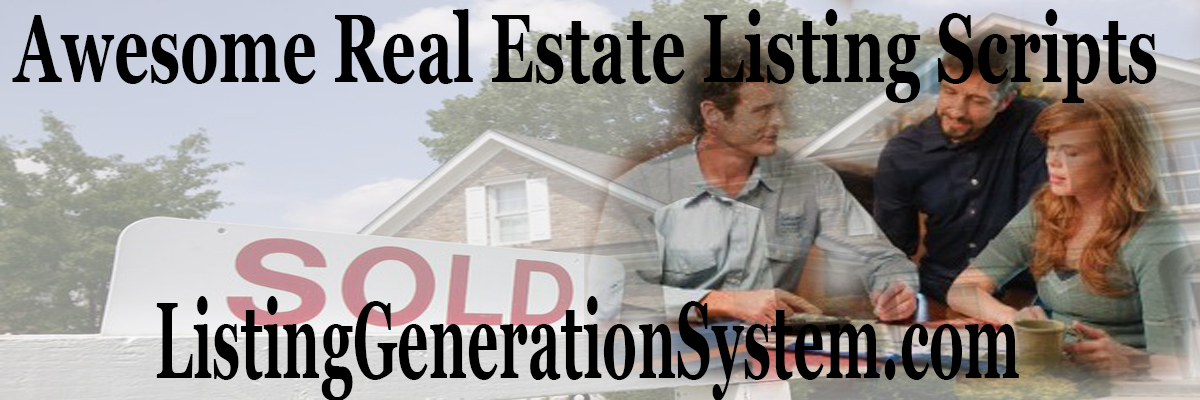 listing presentation for real estate agents script