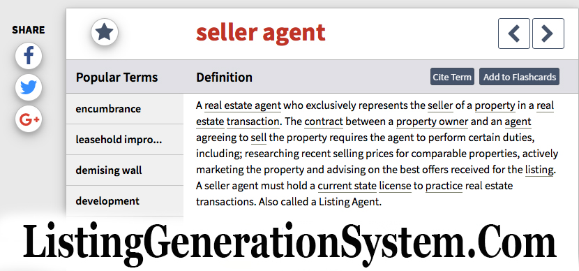Listing Generation System real estate success