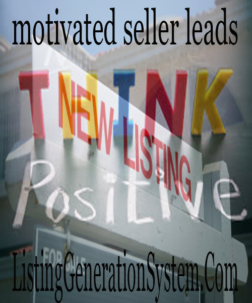 listing generation system motivated sellers leads